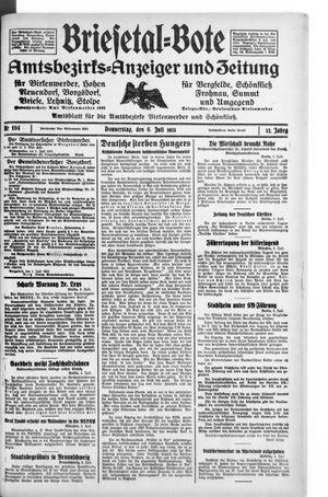 Briesetal-Bote vom 06.07.1933