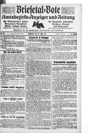 Briesetal-Bote vom 11.07.1933