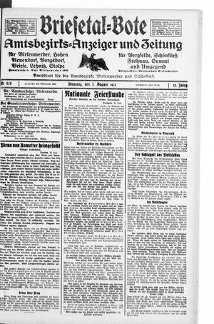 Briesetal-Bote vom 01.08.1933