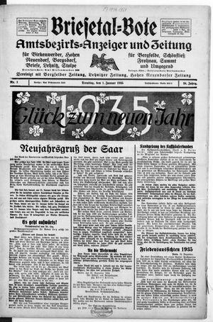 Briesetal-Bote on Jan 1, 1935