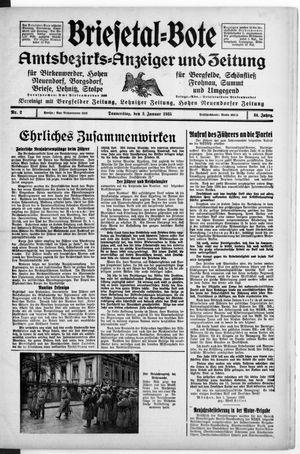 Briesetal-Bote vom 03.01.1935