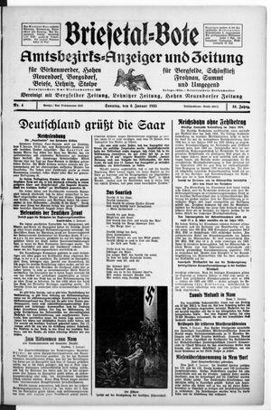 Briesetal-Bote vom 06.01.1935
