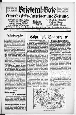Briesetal-Bote vom 10.01.1935