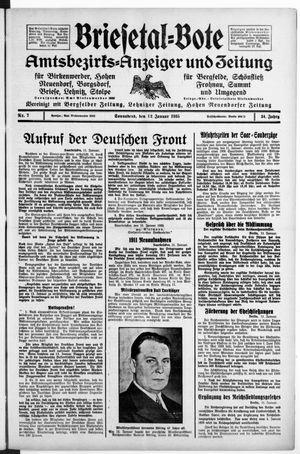 Briesetal-Bote on Jan 12, 1935
