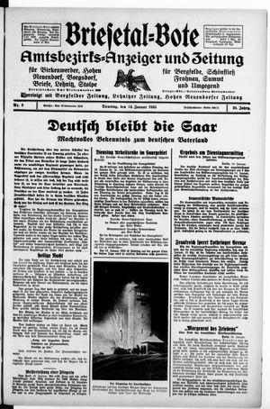 Briesetal-Bote vom 15.01.1935