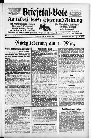 Briesetal-Bote vom 19.01.1935