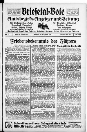 Briesetal-Bote vom 20.01.1935