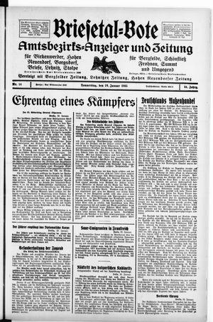Briesetal-Bote vom 24.01.1935