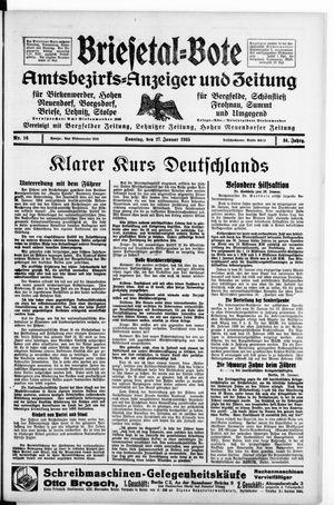 Briesetal-Bote vom 27.01.1935