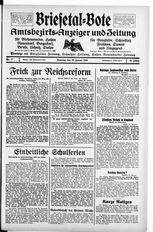 Briesetal-Bote vom 29.01.1935