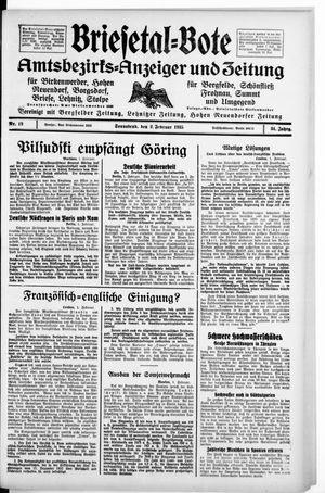 Briesetal-Bote on Feb 2, 1935