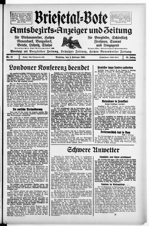 Briesetal-Bote vom 05.02.1935