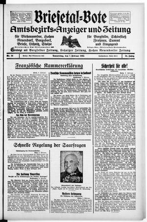 Briesetal-Bote vom 07.02.1935