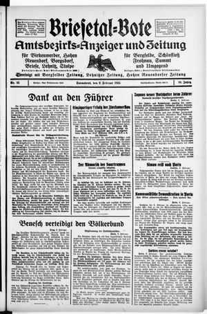 Briesetal-Bote vom 09.02.1935