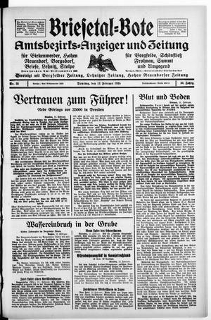 Briesetal-Bote on Feb 12, 1935