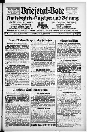 Briesetal-Bote on Feb 19, 1935