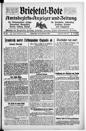 Briesetal-Bote vom 21.02.1935