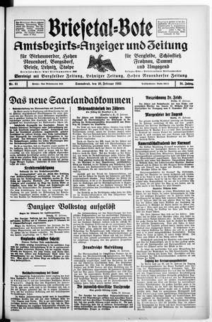 Briesetal-Bote vom 23.02.1935