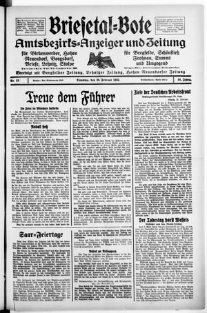 Briesetal-Bote vom 26.02.1935