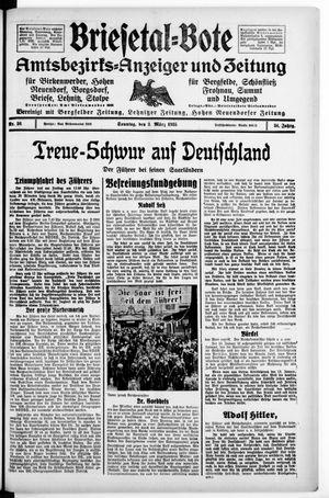 Briesetal-Bote vom 03.03.1935