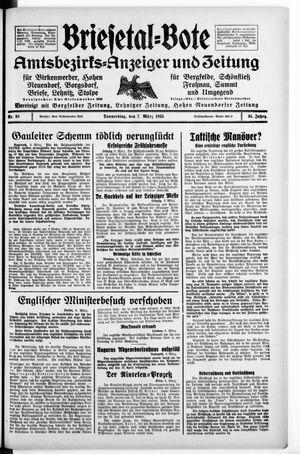 Briesetal-Bote vom 07.03.1935