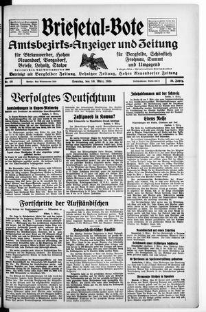 Briesetal-Bote vom 10.03.1935