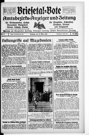 Briesetal-Bote vom 12.03.1935
