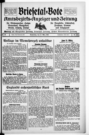 Briesetal-Bote vom 14.03.1935