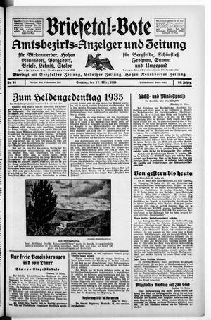 Briesetal-Bote vom 17.03.1935
