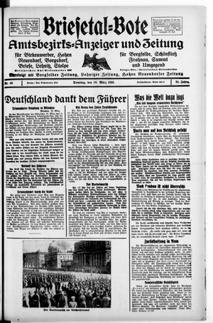 Briesetal-Bote vom 19.03.1935