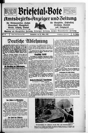 Briesetal-Bote vom 23.03.1935
