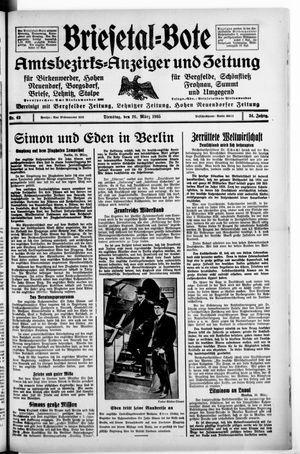 Briesetal-Bote vom 26.03.1935