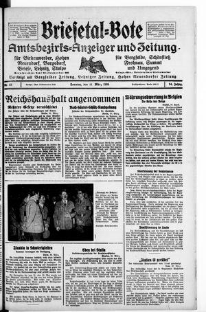 Briesetal-Bote vom 31.03.1935