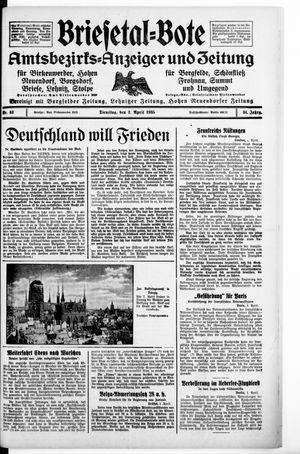Briesetal-Bote vom 02.04.1935