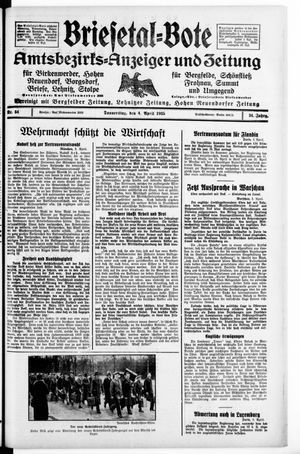 Briesetal-Bote vom 04.04.1935