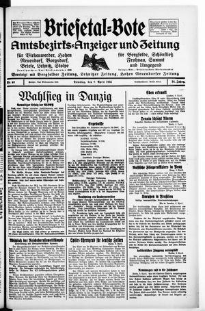 Briesetal-Bote vom 09.04.1935