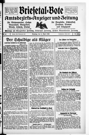 Briesetal-Bote vom 16.04.1935