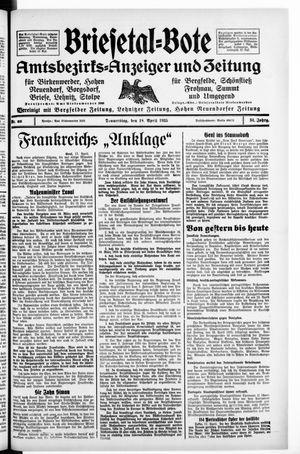 Briesetal-Bote vom 18.04.1935