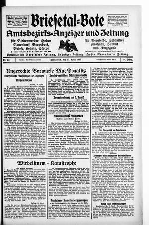 Briesetal-Bote vom 27.04.1935