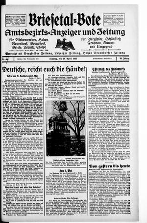 Briesetal-Bote vom 28.04.1935