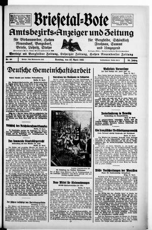 Briesetal-Bote vom 30.04.1935