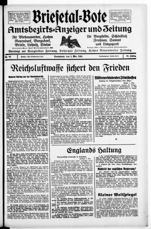 Briesetal-Bote on May 4, 1935