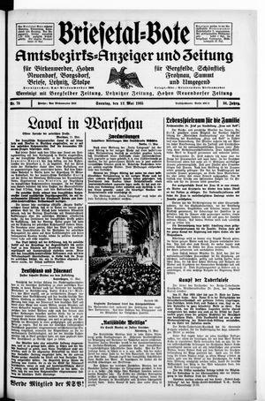 Briesetal-Bote vom 12.05.1935
