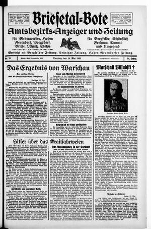Briesetal-Bote vom 14.05.1935