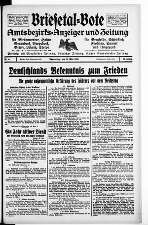 Briesetal-Bote on May 23, 1935