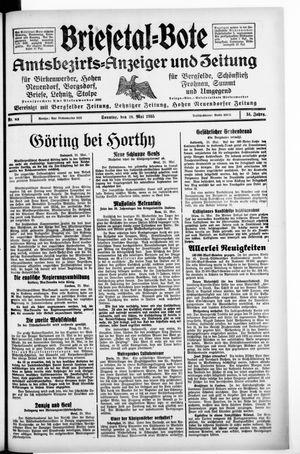 Briesetal-Bote vom 26.05.1935