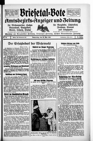 Briesetal-Bote vom 30.05.1935