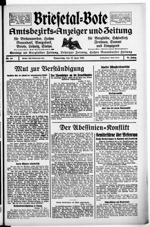 Briesetal-Bote vom 13.06.1935
