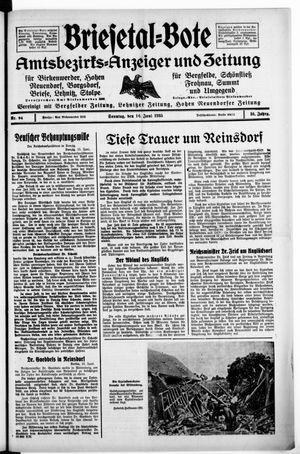 Briesetal-Bote vom 16.06.1935