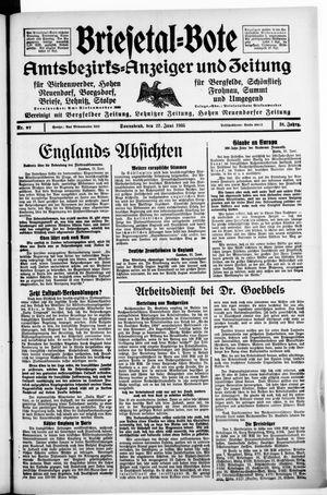 Briesetal-Bote vom 22.06.1935
